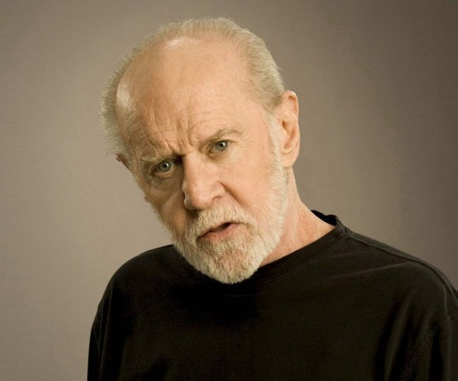 Image result for George Carlin angry face